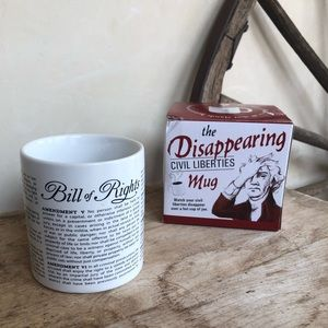 DISAPPEARING CIVIL LIBERTIES Coffee MUG New Box!!!